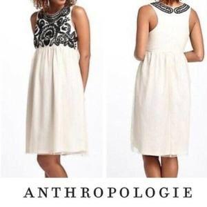 Vineet Bahl Anthropologie Beaded Tulle Dress Med